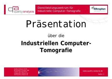 Industriellen Computer- Tomografie - Eltroplan