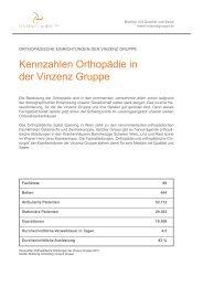 Das Leistungsspektrum der Orthopädie in der Vinzenz Gruppe