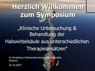 Herzlich Willkommen zum Symposium