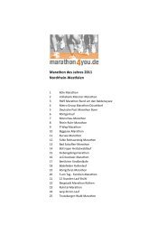 Marathon des Jahres 2011 Nordrhein-Westfalen - Marathon4you.de