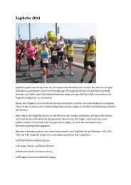 Zugläufer 2013 - Deutsche Post Marathon Bonn