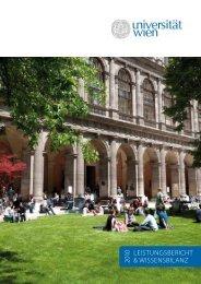 leistungsbericht & wissensbilanz 2010 - Universitätsrat - Universität ...