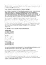Einladung zu der 6. Deutschen Marathon- und ...