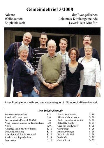 Gemeindebrief 3/2008 - Kirchenkreis Leverkusen