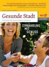 Gesunde Stadt, Sommer 2010 - Wiener Gesundheitsförderung