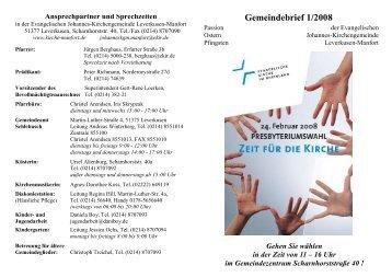 Gemeindebrief 1/2008 - Kirchenkreis Leverkusen