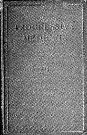 Progressive Medicine - Index of