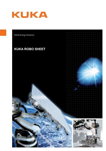 KUKA Robo Sheet datasheet - KUKA Systems