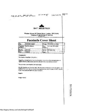 facsimile cover sheet