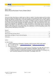 What Should We Want From a Robot Ethic? - International Review of ...