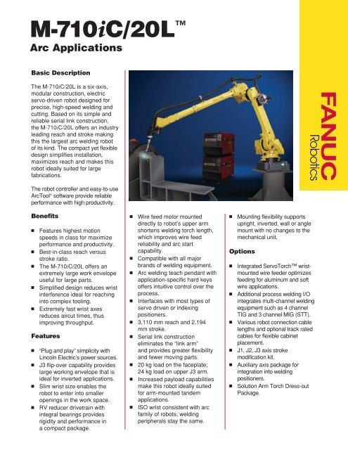 M-710iC-20L Arc Welding - FANUC Robotics