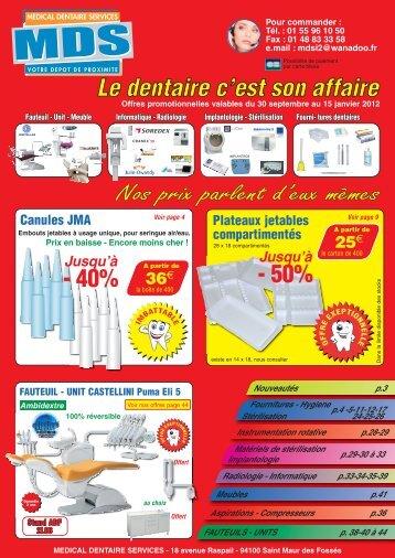flyer MDS septembre 2011.pdf - Medical dentaire service