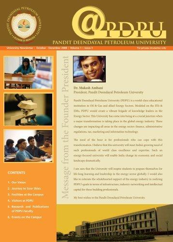 News Letter1 - Pandit Deendayal Petroleum University
