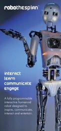 English Brochure PDF - RoboThespian