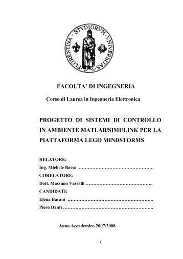 FACOLTA' DI INGEGNERIA PROGETTO DI ... - Scienza Ludica