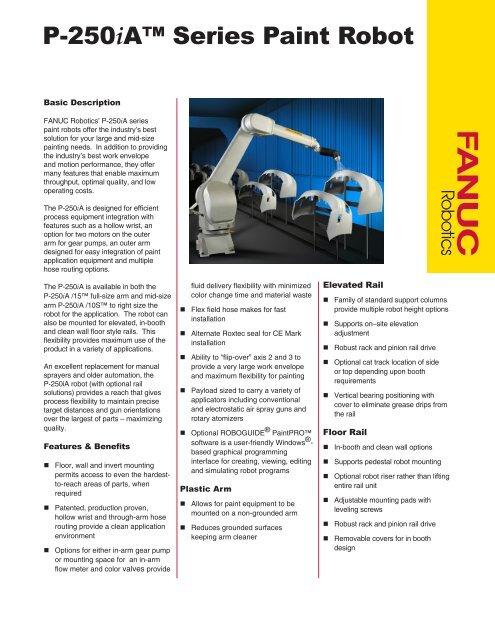 P-250iA™ Series Paint Robot - FANUC Robotics