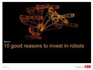 10 good reasons to invest in robots - The ABB Group
