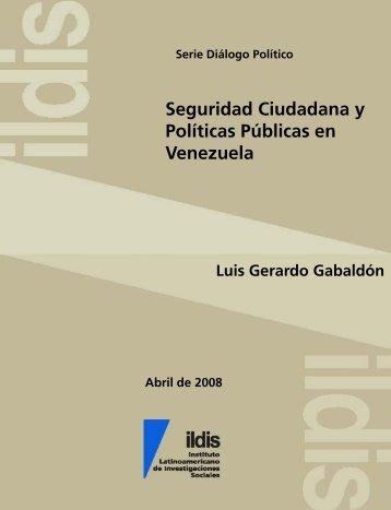 Seguridad ciudadana y politicas publicas en Venezuela