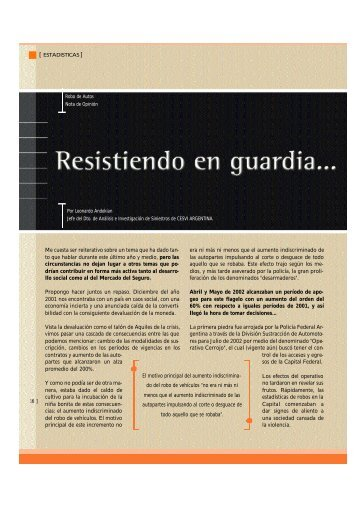 Robo de vehículos - CESVI Argentina