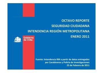 Reporte Enero 2011 - Intendencia Metropolitana