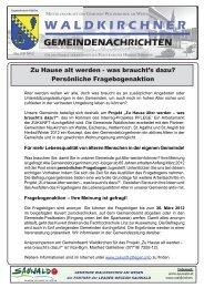 WALDKIRCHNER GEMEINDENACHRICHTEN - Waldkirchen am ...