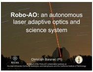 Robo-AO - Caltech Astronomy