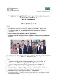 2010 - und Innovationsmanagement - TUM