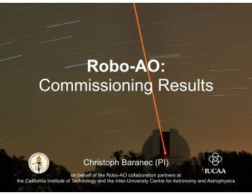 Robo-AO: Commissioning Results - Caltech Astronomy - California ...