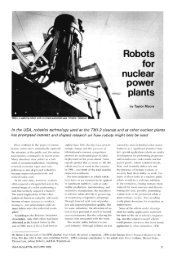 Robots for nuclear power plants. In the USA - IAEA
