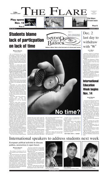 Issue 05-09 - Page 1 Front Page - Kilgore College