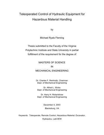 Dissertation virginia polytechnic institute
