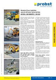 PAVER LAYING SYSTEMS - Probst Handling