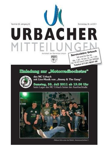 """Einladung zur """"Motorradhocketse"""" - Gemeinde Urbach"""