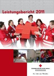 Leistungsbericht 2011 - Österreichisches Rotes Kreuz