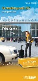 Flyer - Der neue Nahverkehr in NRW