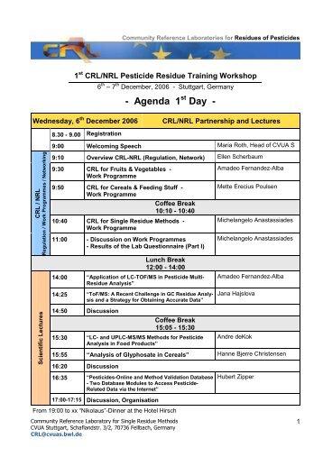 Final agenda - EURL | Residues of Pesticides