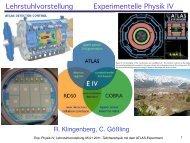 Lehrstuhlvorstellung Experimentelle Physik IV