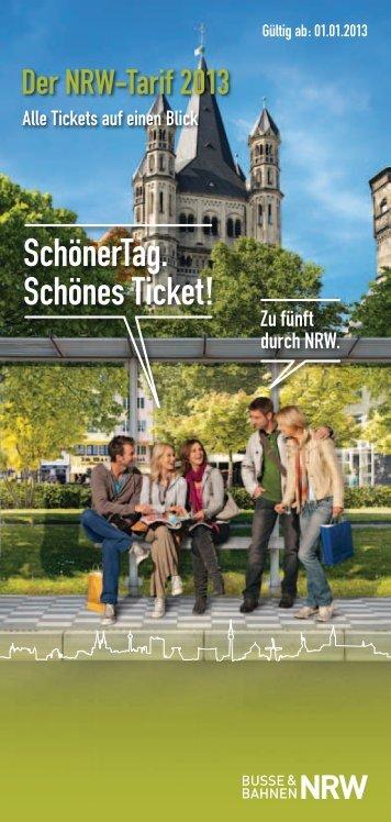 NRW-Tarif: Informationen zu Tickets und Preisen 2013 - VRS