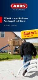 e FG300A – abschließbarer Fenstergriff mit Alarm - Abus