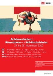 Flyer Brückenarbeiten in Rüsselsheim und MZ ... - Dadina