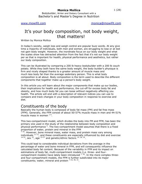 status yang bagus untuk fb  it s the body composition not body weight that matters