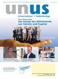 UNUS Ausgabe 03 / 2008 - Bund der Selbständigen (BDS ...