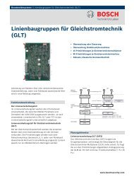 GLT - Bosch Security Systems
