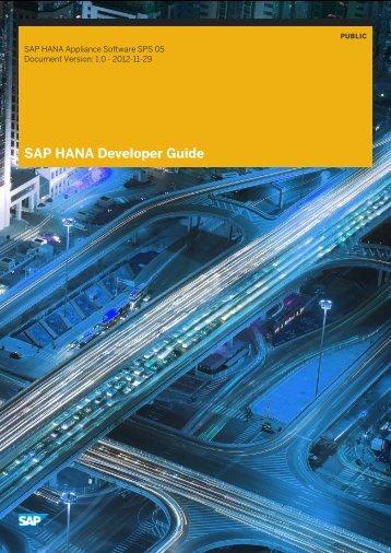 SAP HANA Developer Guide - Get a Free Blog