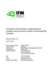 Report and recommendation to Cooperative     - IFM Project