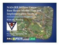 NAS-JRB Willow Grove Base Reuse Master Plan and ...