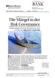 Risk Governance - Home - Ernst & Young - Schweiz