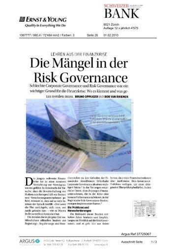 Risk Governance - Home - Ernst & Young - Schweiz