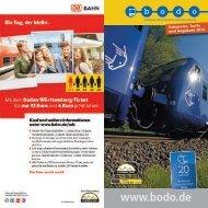 Fahrpreise, Tarife und Angebote 2013 - Bodo