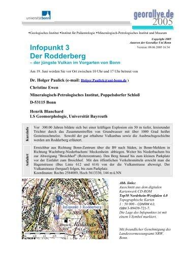 Infopunkt 3 Der Rodderberg - Mineralien- und Fossilien-Freunde Bonn